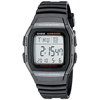 Casio W96H-1BV – Reloj de Pulsera Hombre, Resina, Color Negro