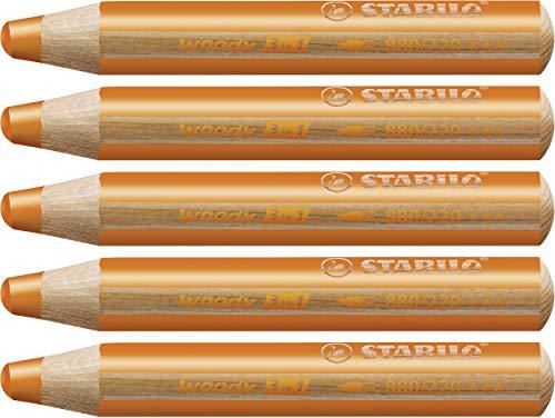 STABILO Woody 3 in 1 matitone colorato colore Arancio - Confezione da 5