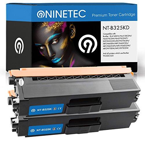Doppelpack 2x Original NINETEC NT-B325KD Toner-Kartuschen Black kompatibel zu Brother TN-320 / 325 BK