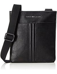 Tommy Hilfiger - Business Leather Flat Crossover, Bolsas escolares Hombre, Schwarz (Black), 5x28x39 cm (W x H D)