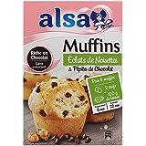 Alsa Préparation pour Muffins Éclats de Noisettes/Pépites de Chocolat 280 g -