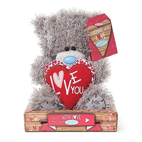 Soft Grey Me To You Small Plush Tatty Teddy Bear I Love You Heart Cushion