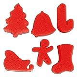 Malschwämme - Weihnachten - 6 Stück