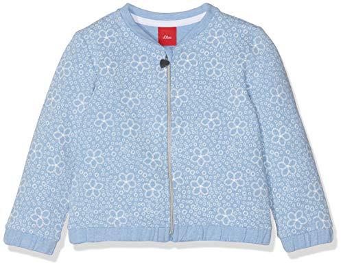 s.Oliver Baby-Mädchen Sweatjacke 65.903.43.3342 Blau (Blue AOP 53a0), Herstellergröße: 86