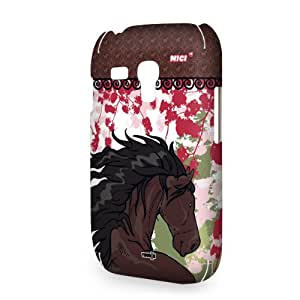 YOUNiiK Mobile Phone Case Cover for Samsung Galaxy S3 mini i8190 - NICI HorseClub Black Horse