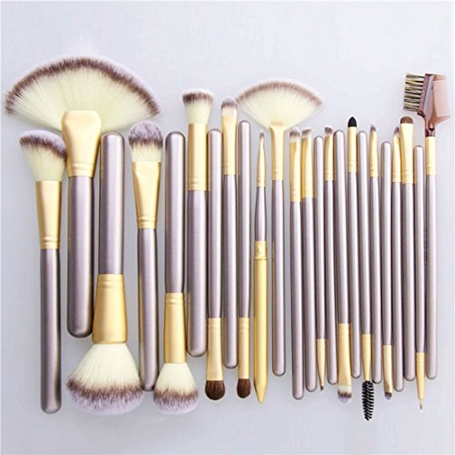Deeplee 24 Pcs Makeup Brushes Set, Foundation Eyebrow Eyeliner Blush Soft Cosmetic Set + Pouch Bag (24 Pcs)