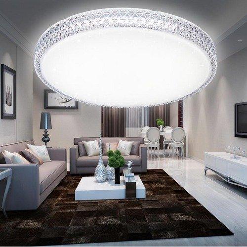vingo led 60w kristall starlight effekt deckenleuchte rund kaltwei 6000k 6500k. Black Bedroom Furniture Sets. Home Design Ideas
