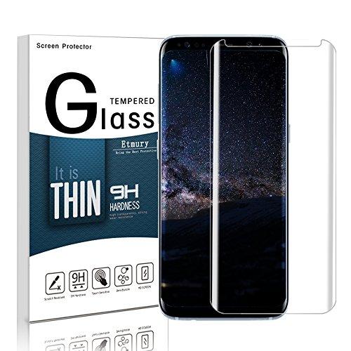 Galaxy S8 Panzerglas Schutzfolie, Etmury 9H Schutzfolie für Schutzfolie,Ultra-klar Glasfolie Hartglas Panzerglas Panzerglasfolie für Samsung Galaxy S8 (Clear)