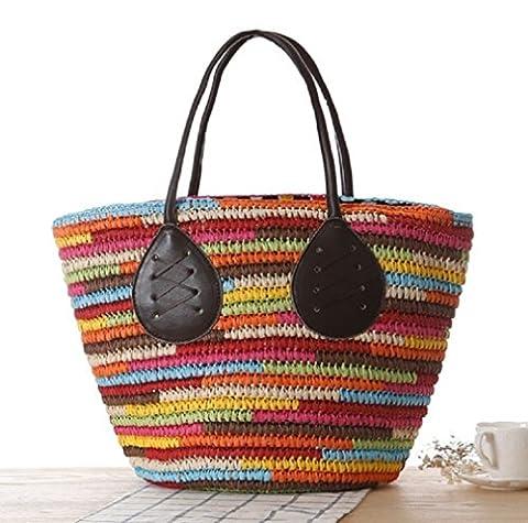 Lanna Siam , Damen Strandtasche mehrfarbig multi- color