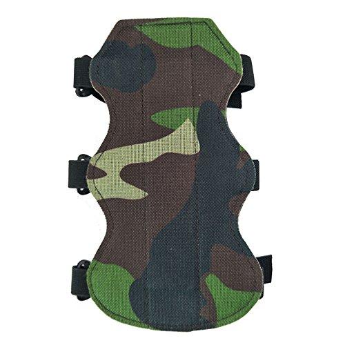 ZSHJG 2 Stück Bogenschießen Camouflage Arm Guard Einstellbare elastische 3-Straps Schutzausrüstung (Stück Rechten 3 Arm)
