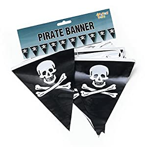 Pirate Bunting. 7mtr/25 Flags (disfraz)