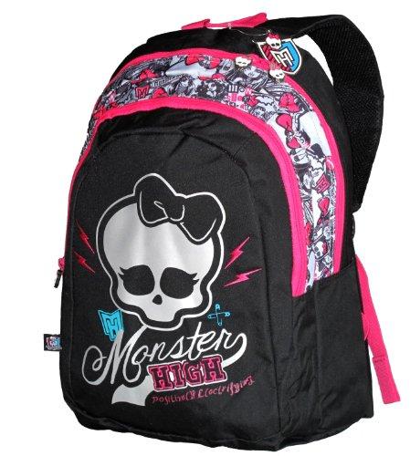 Monster High Sac à Dos Enfants, Noir/rose MH194