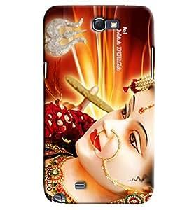 Omnam Jai Maa Durga Face Printed Designer Back Case Samsung Galaxy Note 2
