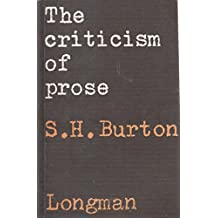 The Criticism of Prose