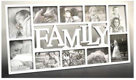3D Family Fotorahmen Bilderrahmen Collage Bilder Rahmen Antik weiß schwarz (Family Weiß)