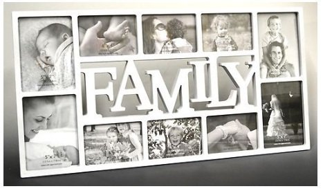 fotorahmen family 3D Family Fotorahmen Bilderrahmen Collage Bilder Rahmen Antik weiß schwarz (Family Weiß)