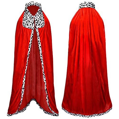 Proumhang König-Kostüm Erwachsener Königsumhang Lange Königsmantel Königskostüm Kostüm Halloween 130cm MEHRWEG (König-kostüme Für Erwachsene)