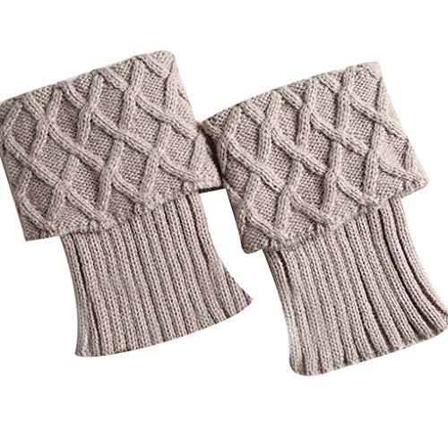 fish 1 Paar Frauen-Winter Crochet Stiefel Stulpen Knit Toppers Stiefelsocken Beinwärmer Feste Beinlinge Mädchen-Dame Trim Jeans Hose