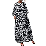 Robe Longue Boheme,Daysing Robe Longue Femme Chauve-Souris Chauve-Souris à Imprimé Floral Et Robe OversizeFemme Sexy V-Col Robe EléGante SoiréE Sans Dos Cocktail Robes Longue Bandage Noces Long Dress...