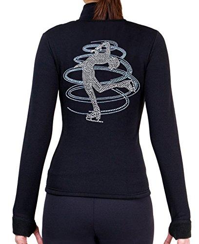 ny2 Sportswear Eiskunstlauf Polartec Polar Fleece Jacke mit Strass jr230mix, Mädchen Damen, hellblau, Erwachsene Large -