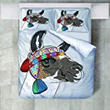 4 Teilige Bettwäsche Set Tier Pferd Gedruckt Polyester Bettbezug Mit Kissenbezügen Bettbezug-Set Pflegeleicht Weich Glatt Geeignet Für Alle Jahreszeiten