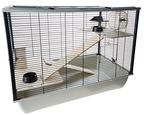little-friends-langham-tall-rat-and-hamster-cage-with-two-floors-77-x-47-x-58-cm-silver-black