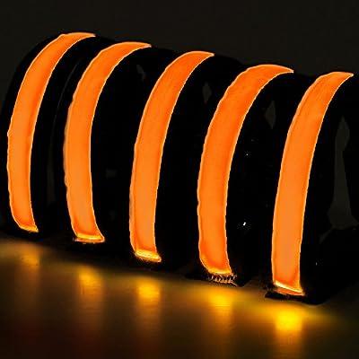 Faburo 5PCS LED-Licht Armband, Reflective Armbänder für Outdoor Sportarten
