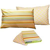 Completo Cama Individual sábanas algodón Bassetti Time doble almohada una 1plaza Encimera + Bajera + 2fundas