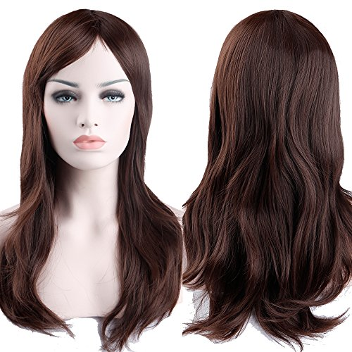 S-noilite Fashion Lady Long Layer Straight Full Head Wig Cosplay Party Daily Fancy Dress Top Quality Medium Brown by S-noilite (Kostüm Party Themes Zu Weihnachten)