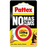 Pattex 1403701 - No más clavos, cinta doble cara rollo