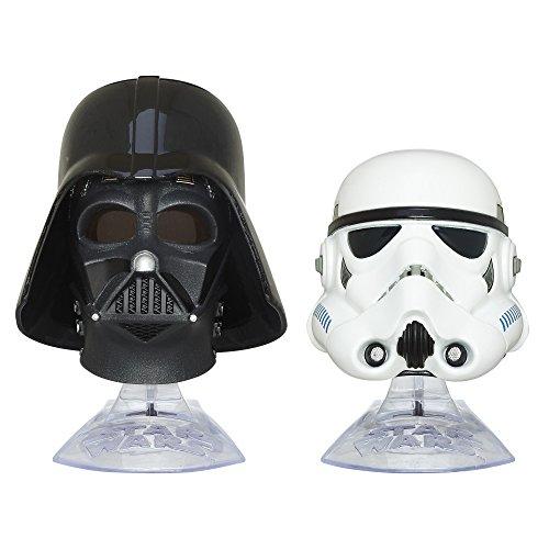 Star Wars Titanium Serie Helmcollection Darth Vader und Stormtrooper Helme mit (Star Helm Stormtrooper Wars)