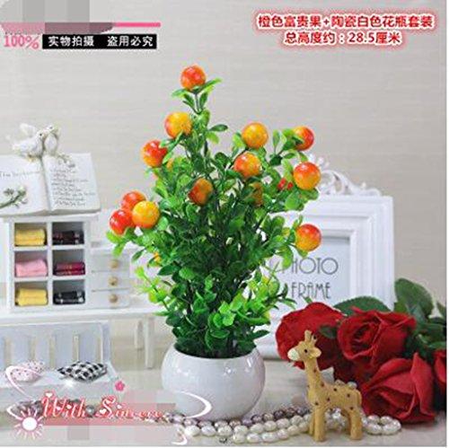Glück Topfpflanzen Bonsai Simulation Obst künstliche Plastikblumen,Schmuck,Die gesamte Branche Länge von ca. 100 cm, Blütendurchmesser 5 cm um eine Blume über 100 - Magnolia Obst