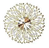 NWYJR Wanduhr Iron Quarz Uhr Europäische Moderne Minimalistische Dekoration Mute Uhr Kunst Wand