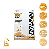 Unived Rrunn Endurance Energy Gel - 39 g (Pack of 6, Mandarin Orange)