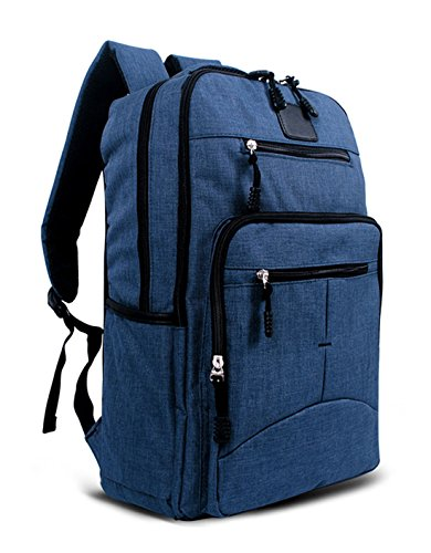 Keshi Canvas Cute Girl Backpack Satchel Sapphire Blue