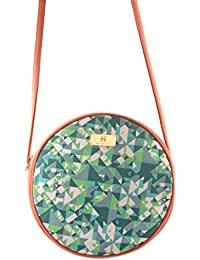 Women's Sling Bag (Peach And Turquoise)
