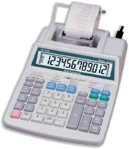Aurora PR720 Printing Calculator (Two Colour and Mains Power) Test