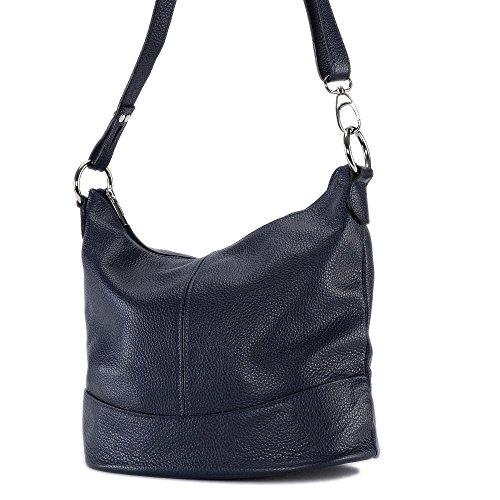 OH MY BAG - borsa a tracolla di pelle modello Beaubourg blu scuro