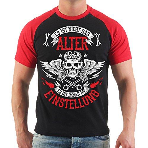 Männer und Herren T-Shirt Biker Es ist Nicht das Alter Es ist die Einstellung (mit Rückendruck) Größe S - 8XL -
