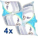 4 x Raumentfeuchter-Nachfüllpackungen à 1,2 kg - verhindert Schimmel, Moder, üble Gerüche, Stockflecken - Raum-Entfeuchter