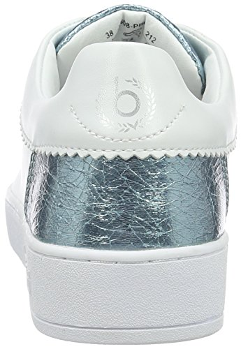 Bugatti J7608pr6n, Baskets Basses Femme Blanc (Weiß / Hellblau 212)
