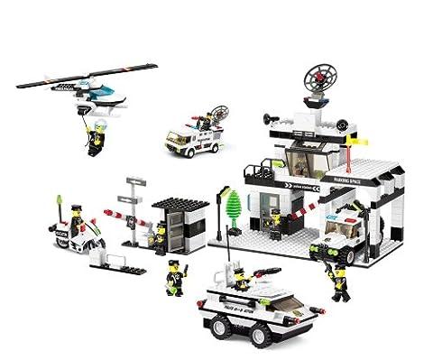 Wange Super Force Police Building Brick Set 890 Pieces