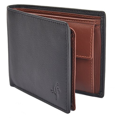 Fabrian Good Premium Quality Hand Crafted Brown Pure Genuine Leather Wallet For Men