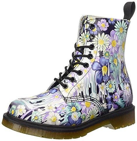 Dr. Martens PASCAL Paint Slick PURPLE Damen Bootsschuhe, Violett (Viola), 36 EU