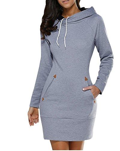 Lorsou LANISEN Womens Plus Size Hoodies Long Sleeve Cotton Hooded Sweatshirts 6-22