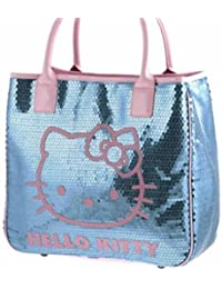 6141b06420 HELLO KITTY CAMOMILLA SEQUINS LUXURY LARGE LADIES SHOULDER TOTE HAND BAG -  TURQUOISE 09120