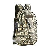 YAAGLE 20 L militärisch klein Gepäck Rucksack outdoor Reisetasche Fahrradrucksack Schultertasche Schüler Schultasche-Tarnung 3