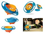 Universal 360 Degrees Rotates Spill Proof & No Mess Gyro Bowl For Baby Kids