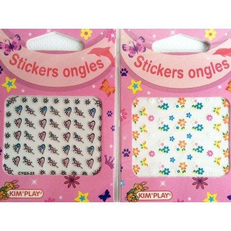A.K TRADING Lot de 48 Sticker pour Ongles