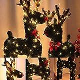 Fairy Licht, 30/40/50 / 60CM amerikanischer Stecker Vintage Weihnachten Rentier und 10M LED-Urlaub Lichter Kunstrasen Dekoration Weihnachtsbeleuchtung (Größe : 30CM)